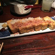 栃尾揚げ葱味噌
