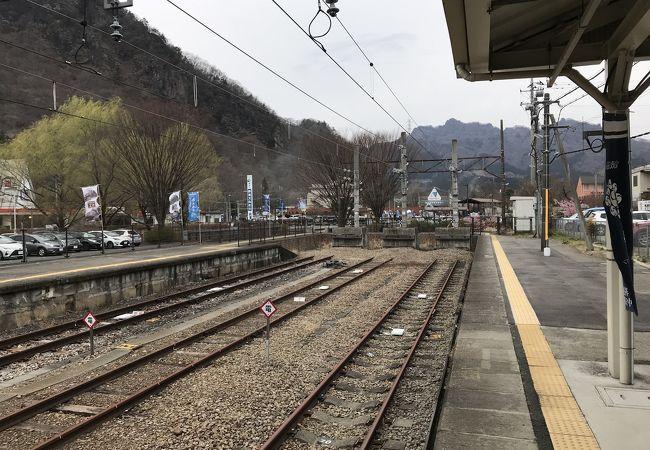 横川駅:現在は終端駅
