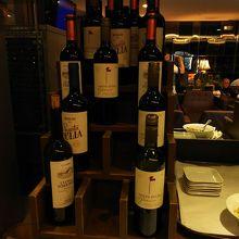 ワインの種類は豊富でした。