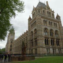 城のような外観の自然史博物館