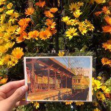 江ノ電のイラストがステキなポストカードを購入しました