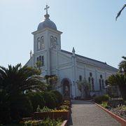 キリスト教解禁後一番早く建てられた教会です。