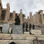 パルテノン神殿は修復作業中