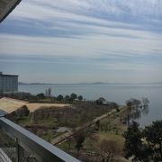 天守から琵琶湖を望む