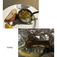 夕食のお魚料理です。