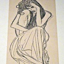 クリムト素描 ベートーヴェン・フリーズ 蝕む悲嘆のための習作