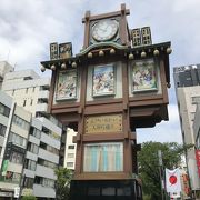 人形町商店街にある時計台