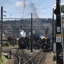 大井川鐵道:SLの発着駅は新金谷駅