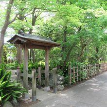 狸塚などへの出入口(参道の左手)
