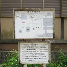 境内図と童謡碑などの説明板