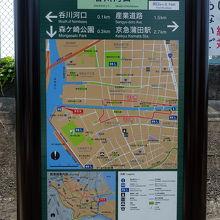 大田区となる呑川河口部にも呑川緑道がありました