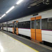 サンツ駅から系統多く乗る際に注意必要。