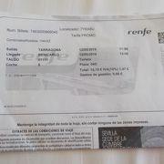 RENFEチケット, HPから事前購入で安く買えました。