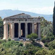 古代アゴラの小さな丘にあるヘファイストス神殿