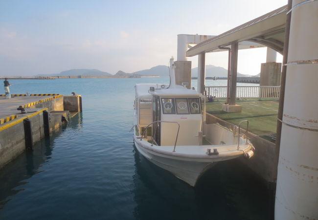 村内航路船で手軽に移動できました