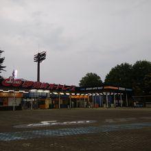 伊勢崎オートレース場の入口