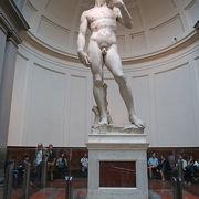 ミケランジェロの超有名作品、ダヴィデ像