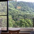 緑が美しい山をのぞむ温泉ホテル