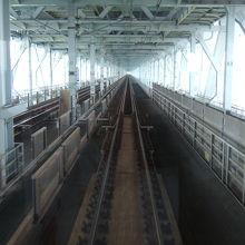 トロッコ列車後部からの瀬戸大橋