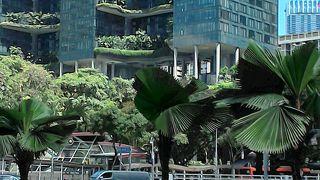 シンガポールの目ぬき通り。