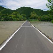 増水時、橋の中央に立つ恐怖
