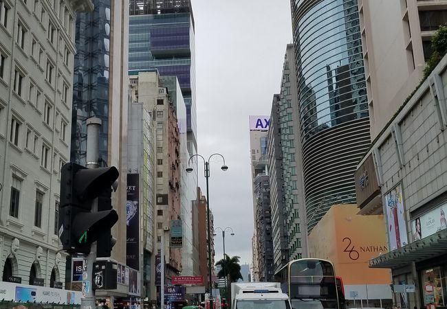 高いビルが立ち並ぶ繁華街