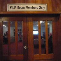 VIPルームです。会員でないと入れませんが、明るい雰囲気です