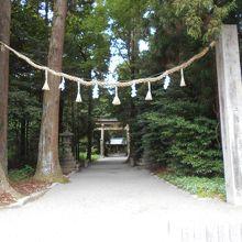伊和神社です。ドライブの無事を祈りましょう。