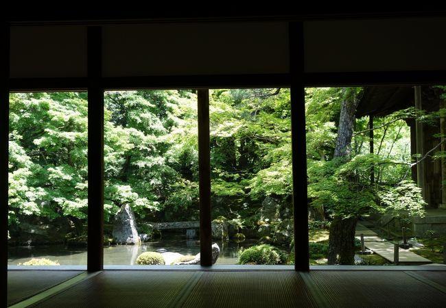 瑠璃光院近くで静かに庭園を鑑賞できる寺院