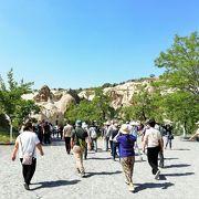 古代ローマ時代洞窟教会と修道院が作られた ギョレメの谷