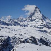 標高3100mから眺めるマッターホルンは最高です