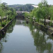 倉敷美観地区の中心、柳並木が美しい