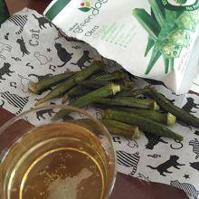 オクラのスナックはビールのつまみに美味しい
