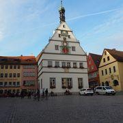 ローテンブルク旧市街の中心地 マルクト広場