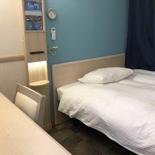 客室内の様子 ベッドは広いサイズです