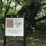 広い城址は公園に