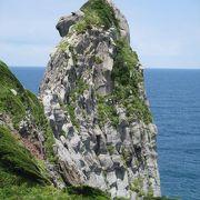 高さ45mもあり、玄武岩でできているそうで、作者は自然