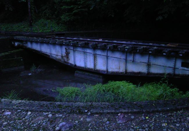 旧国鉄越美南線北濃駅 機関車転車台