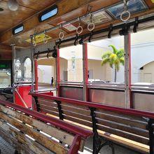 フィッシュアイマリンパークに行くためのバスは座席が違う