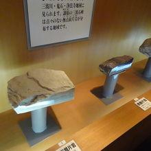 1階にある三波石の展示コーナー