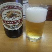 両国「とんかついちかつ」でビール