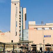 上層階にはホテルが入っている富山地方鉄道の駅ビルです