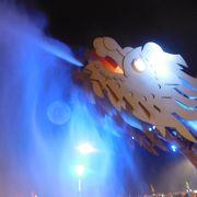 ドラゴンの火を噴くショー