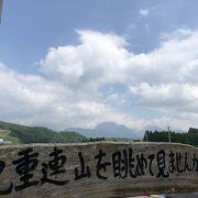 九重連山を一望