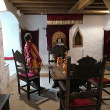 城主の部屋が再現されています