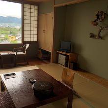 見晴らしのいい和室でした
