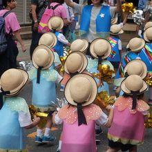 地元幼稚園の七夕仮装行列