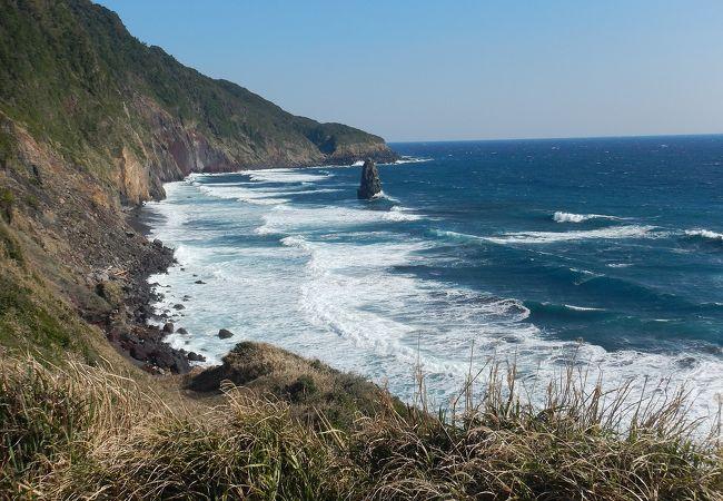 おたいね浦の岩脈と筆島