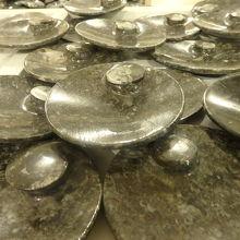 アンモナイトの化石入りの石鹸です