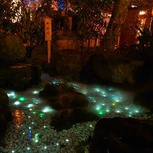 ロマンチックな天の川ライトアップ